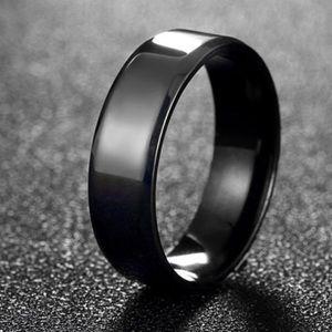Sz10 Black Stainless Steel Lovers band for men